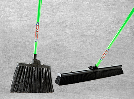 Push Brooms and Upright Brooms